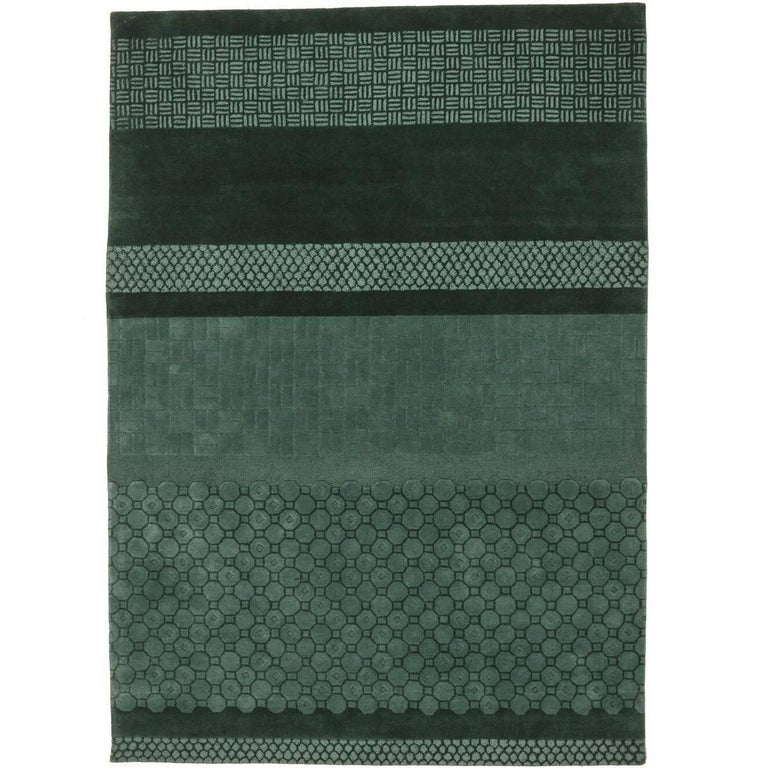 Celadon Jie Hand-Tufted Wool Area Rug by Neri & Hu Large For Sale