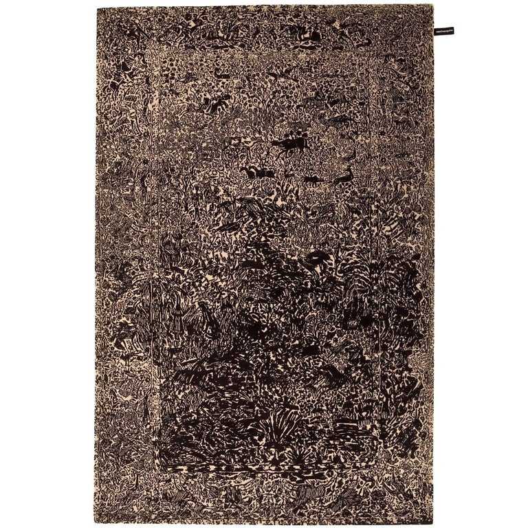 Ghost Hand-Knotted Wool Rug by Marti Giuxe Large For Sale