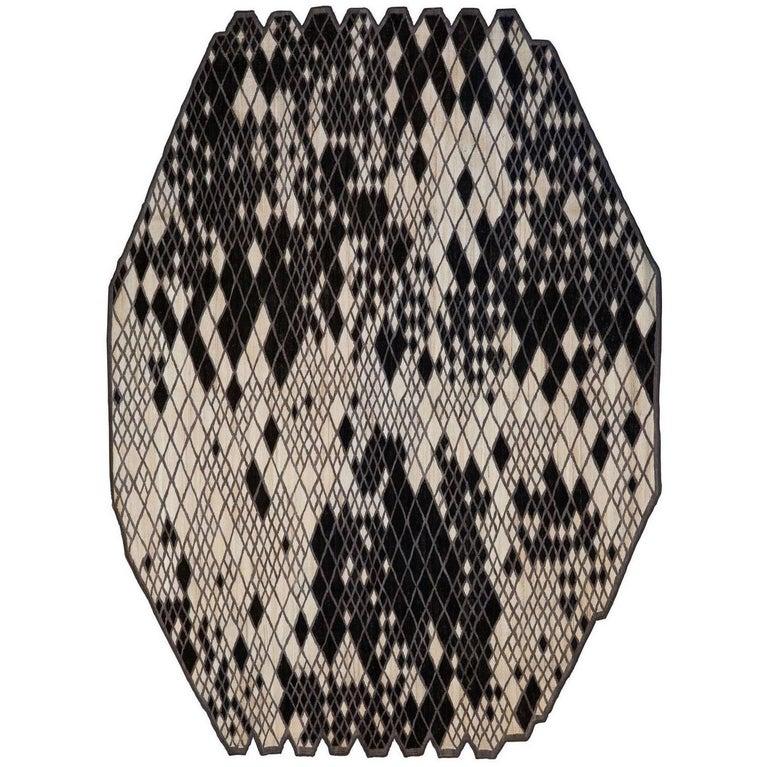 Losanges Two Hand-Loomed Wool Rug by Ronan & Erwan Bouroullec Medium