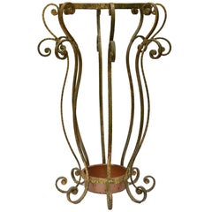 Art Deco Style Gilt Umbrella Stand by Pier Luigi Colli