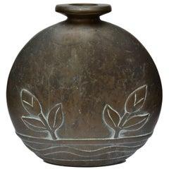 Solid Bronze Cast Vase