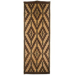 Early 20th Century Woven Mat, Ainu Culture, Japan