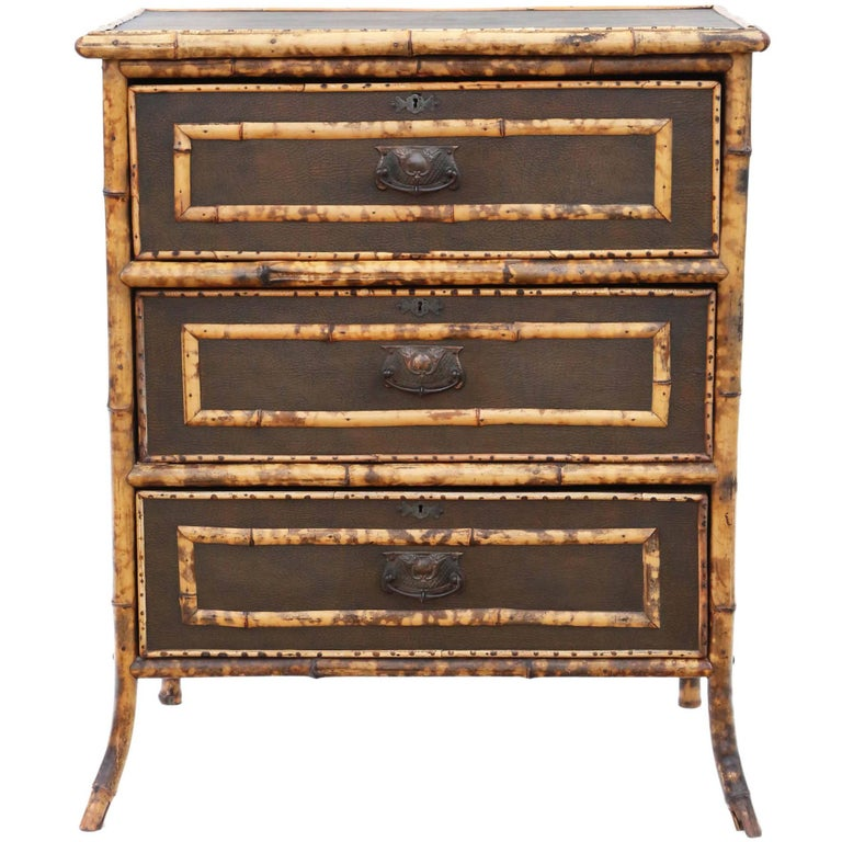 Antique bamboo chest of drawers circa 1910 1920 at 1stdibs for Sideboard lindholm