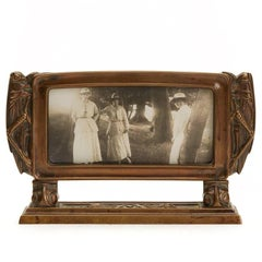 Arts & Crafts Bronze Frame with Grasshoppers, circa 1900