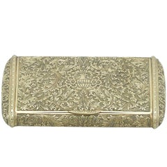 Antique Italian 18-carat Gold Snuff Box, circa 1900s