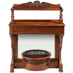 Regency Period Mahogany Pier Table Incorporating a Planter