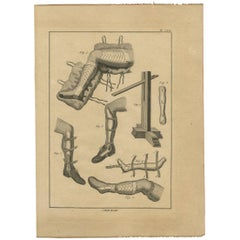 Antique Print of Leg Surgery Techniques by H. Agasse, circa 1798
