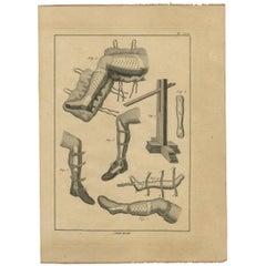Antique Print of Leg Surgery Techniques by H. Agasse, circa 1798