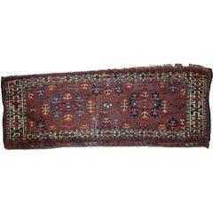 Handmade Antique Collectible Turkmen Yomud Torba, 1880s