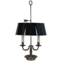 French Silver Plated Bouillotte Lamp