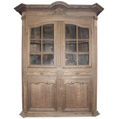 Antique Castle Glass Cabinet, a Real Flemische Piece from 17th Century