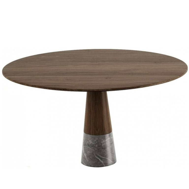 Echo Side Table by Cristophe Pillet, Quickship Contemporary Marble Table For Sale