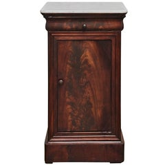 Louis Philippe Marble-Top Nightstand