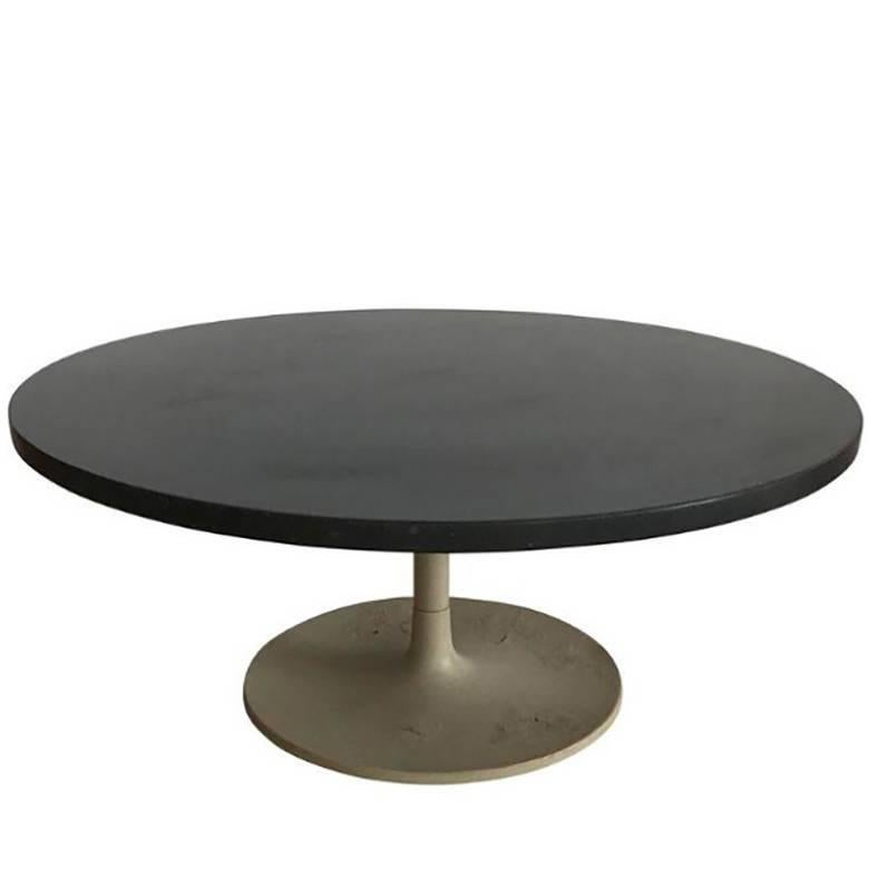 Jens Risom Slate Top Tulip Coffee Table For Sale at 1stdibs