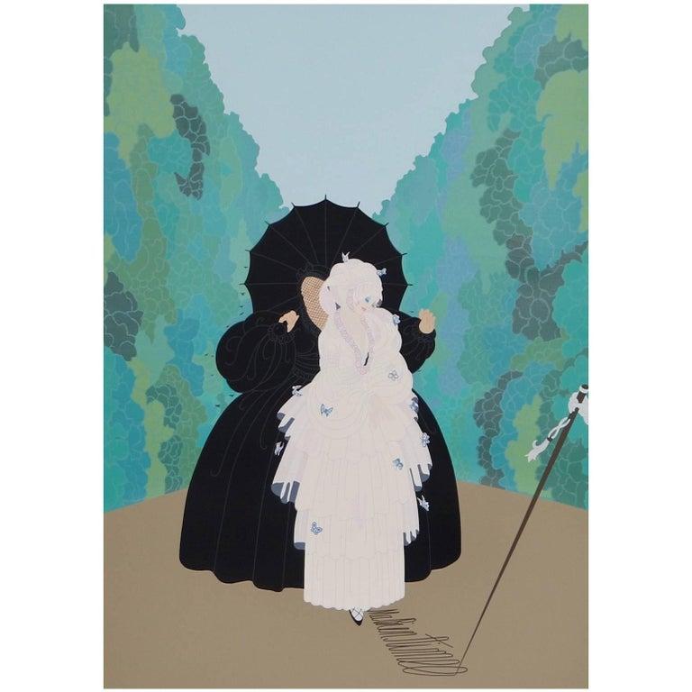 """Original Silkscreen by Erte, """"Debutante"""""""