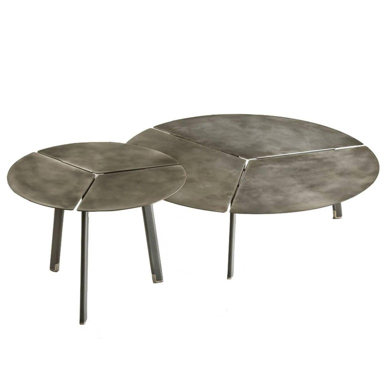 Iron placas coffee table nesting set by lucidipevere for for Iron coffee table set
