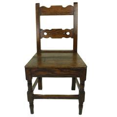 Antique Welsh Pine Desk Chair