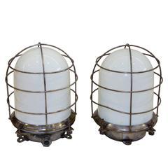 Milk Glass Nautical Light