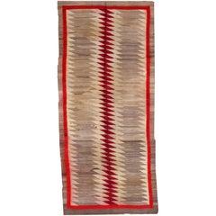 Handmade Antique Native-American Navajo Rug, 1900s