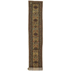 Antique Persian Malayer Extra-Long Hallway Runner with Arts & Crafts Style