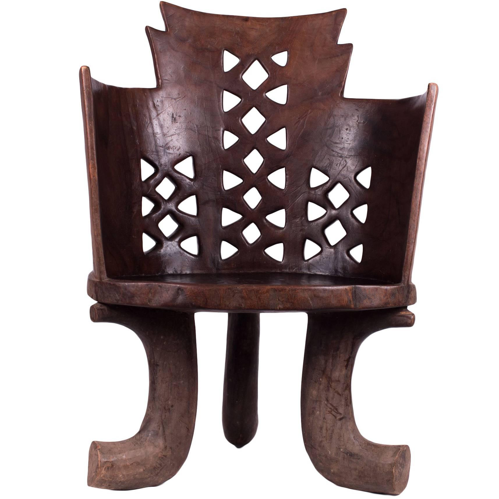 traditional ethiopian wood chair at 1stdibs rh 1stdibs com
