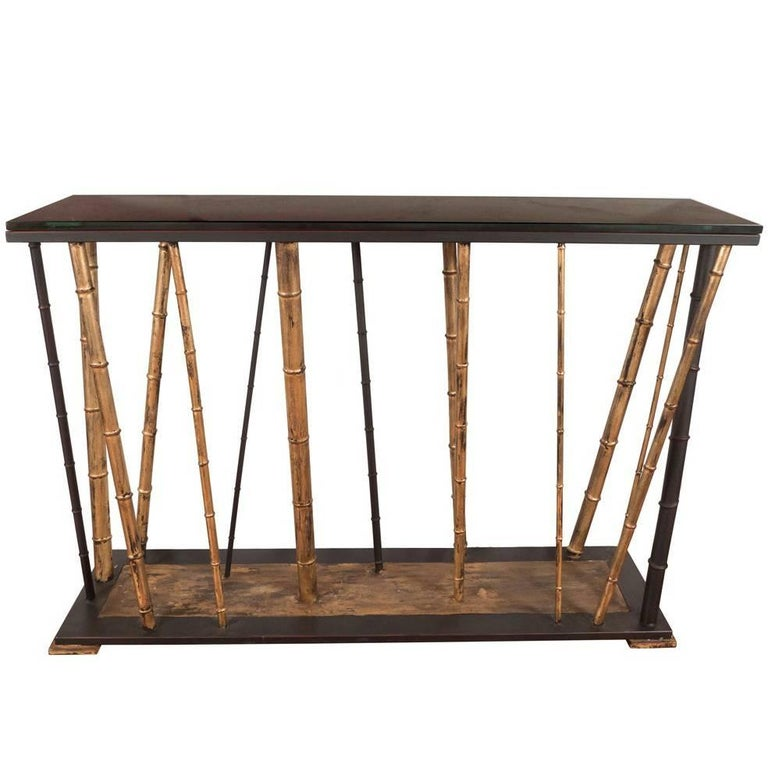 Faux Bamboo Console Table 1