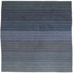 Contemporary Modern Flat-Weave Rug, Ombre Kilim Rug