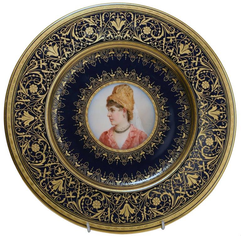Set of Four Old Vienna Porcelain Cabinet Plates at 1stdibs