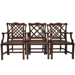 Set of Six Chinese Chippendale Dining Chairs