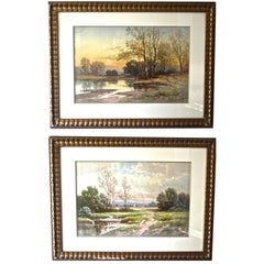 Pair of Carl Weber Landscapes