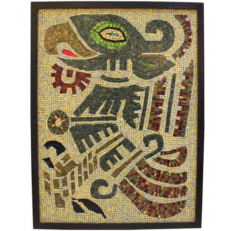 Mosaic Tile Aztec Eagle Art by Ellen Hightower