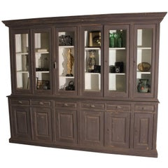 Large Old Flemisch Bookcase from a Monestry