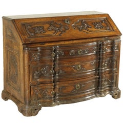 Drop-Leaf Secretaire Manufactured in Mantua, Italy, 18th Century