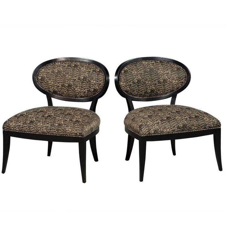 Accent Chairs Sold In Pairs.Pair Of Oval Back Accent Chairs