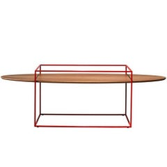 """TT"" Center Table with One Oval Tray Designed by Ron Gilad for Adele-C"