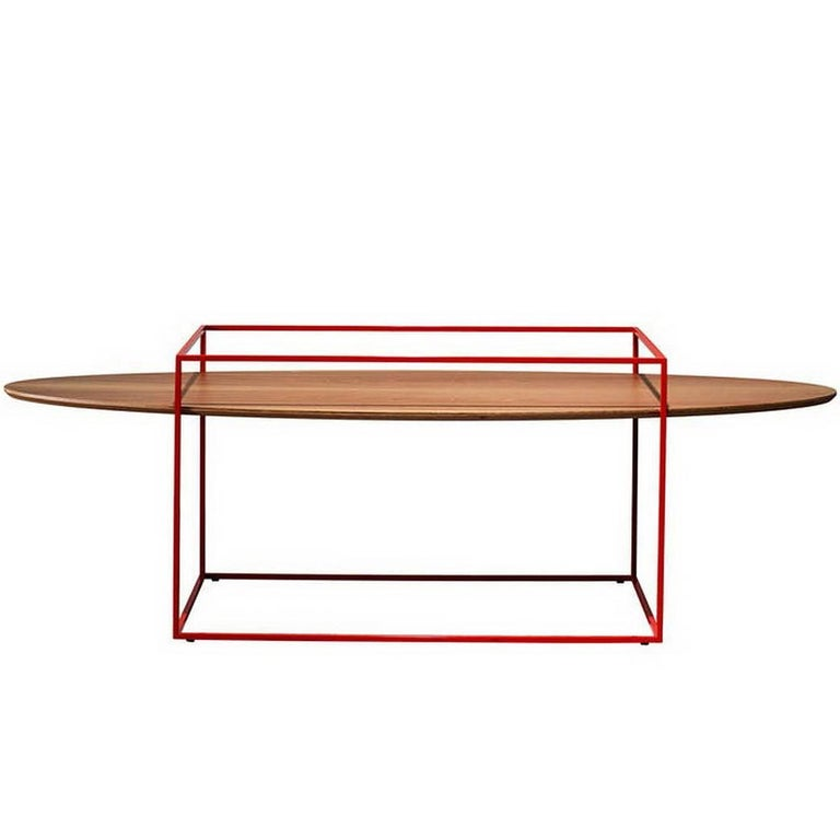 """""""TT"""" Center Table with One Oval Tray Designed by Ron Gilad for Adele-C"""
