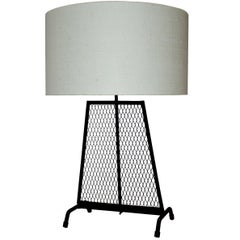 Mid-Century Modern Wrought Iron Lamp