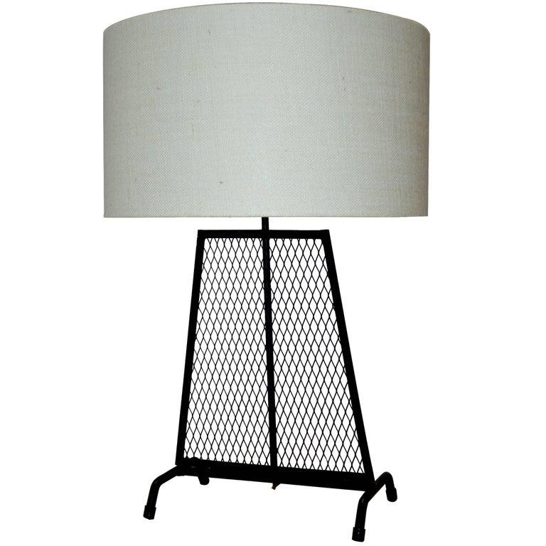 Mid-Century Modern Wrought Iron Lamp