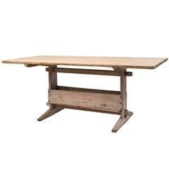 18th Century Swedish Folk Art Table in Pine