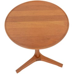 Hans Andersen's Teak Round Side Table with Tripod Base
