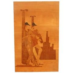 Panel in Precious Wood Inlays 1950 Luigi Scremin