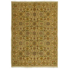 Vintage Spanish Golden Rug with Modern Traditional Style