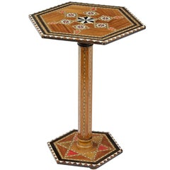20th Century Small Damascan Inlaid Games Table