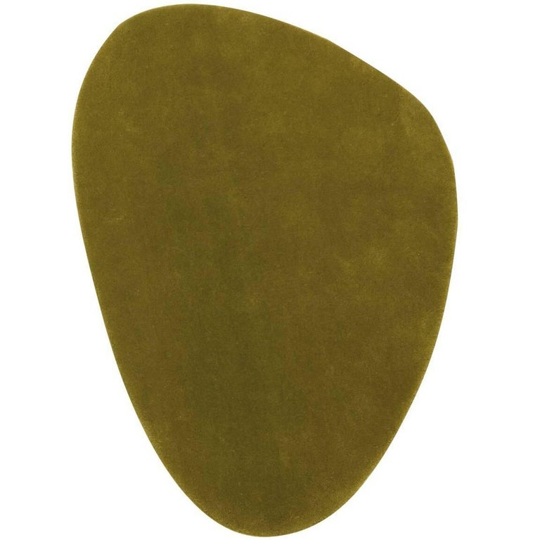 Cal 3 Hand-Tufted Olive Green New Zealand Wool Rug by Nani Marquina in Stock