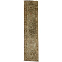 Vintage Indian Runner with Transitional Style, Hallway Runner