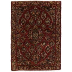 Antique Sarouk Persian Rug with Old World Victorian Style