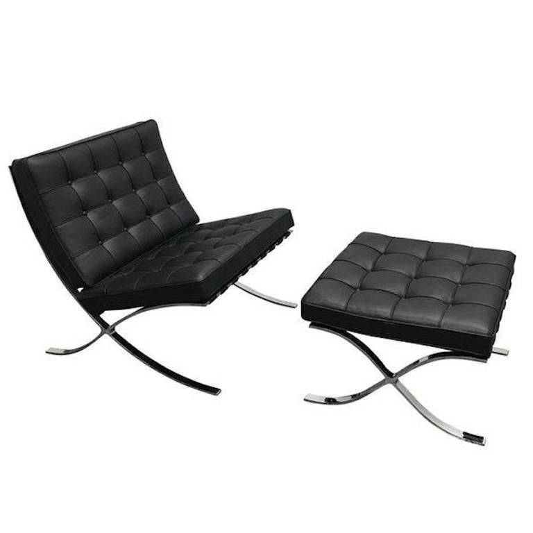 Ludwig Mies Van Der Rohe Barcelona Chair And Ottoman At 1stdibs