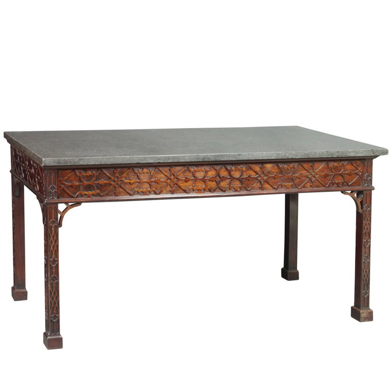 Chippendale Mahogany Serving Table
