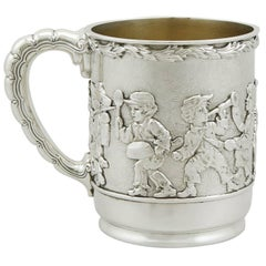 Antique American Sterling Silver Christening Mug by Tiffany & Co