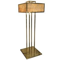 1960 Imposant Floor Lamp Alabaster and Metal